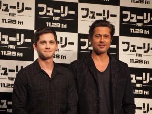 (左から)ローガン・ラーマン、ブラッド・ピット