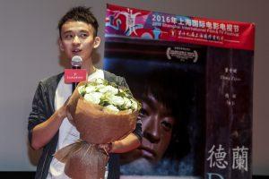 『徳蘭』の舞台挨拶に登場した董子健。中国映画界のホープ(写真提供=上海国際映画祭)